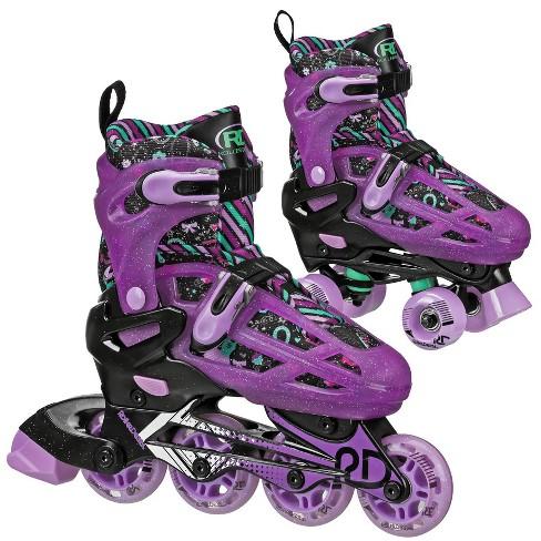 Roller Derby Lomond Girls Adjustable Inline-Quad Combo Skates Size 3-6 - Black - image 1 of 4