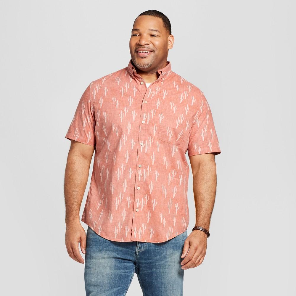 Men's Big & Tall Short Sleeve Button-Down Shirt - Goodfellow & Co Pumpkin Spice 5XBT