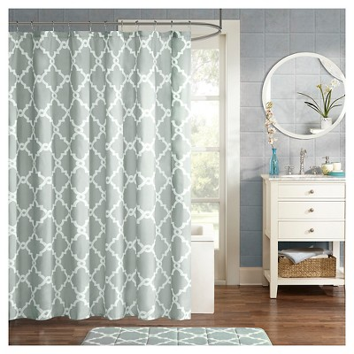 Becker Printed Geometric Shower Curtain - Gray