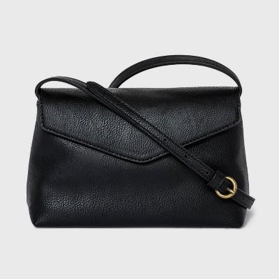 Magnetic Snap Closure Envelope Crossbody Bag - Universal Thread™ Black