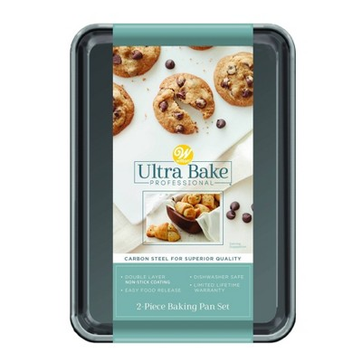 Wilton Ultra Bake Pro 2pc 7x10 Cookie Sheet Set