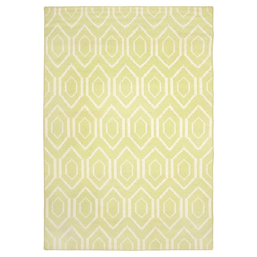 Buy Taza Dhurry Rug - Green Ivory - (6x9) - Safavieh