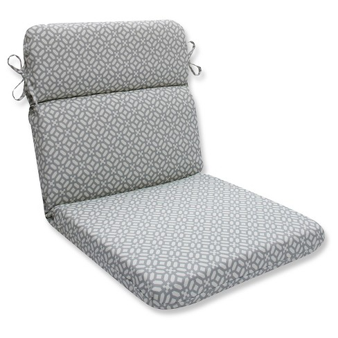 Pillow Perfect In The Frame Pebble Outdoor One Piece Seat And Back Cushion - Gray - image 1 of 1