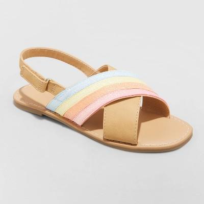 Girls' Patrice Rainbow Ankle Strap Sandals - Cat & Jack™ Cognac