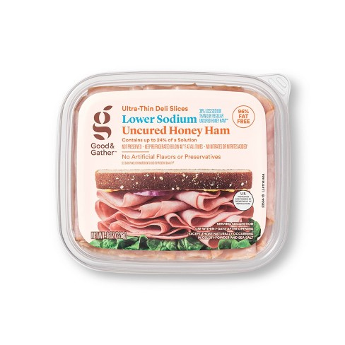 Lower Sodium Uncured Honey Ham Ultra-Thin Deli Slices - 8oz - Good & Gather™ - image 1 of 3
