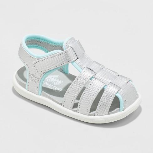 39aead6d0772 Toddler Girls  See Kai Run Basics Posey Fisherman Sandals - Silver ...