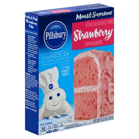 Pillsbury Moist Supreme Butter Strawberry Cake Mix - 15.25oz - image 1 of 4