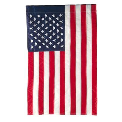 Evergreen Flag American Flag House Applique Flag