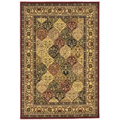 Persian Treasures Kerman Rug Off White/Red - Linon