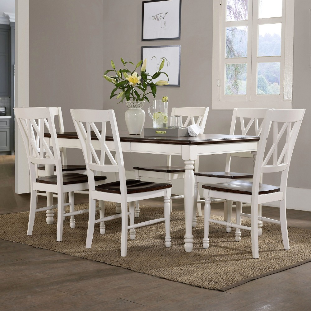 Shelby 7 Pc Dining Set White - Crosley