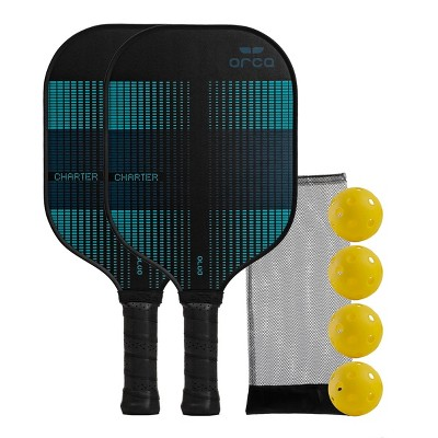 MD Sports Orca Charter Polymer Honeycomb Pickleball Paddle Deluxe Combo Set - Blue/Black