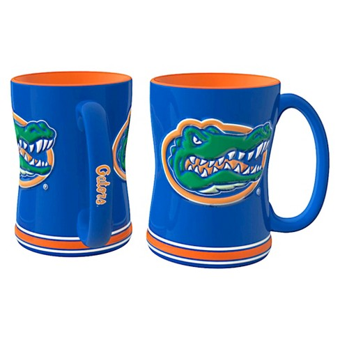 NCAA Florida Gators Boelter Brands 2 Pack Sculpted Relief Style Coffee Mug - Blue/ Orange (15 oz) - image 1 of 1
