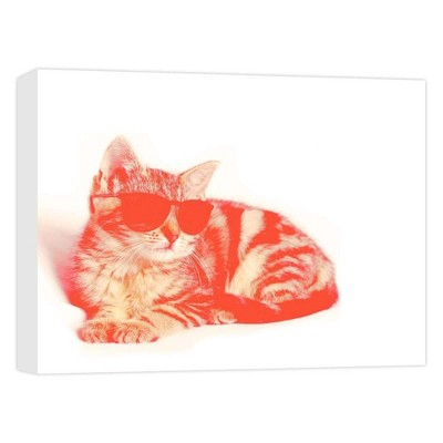 """11"""" x 14"""" Hipster Cat Decorative Wall Art - PTM Images"""