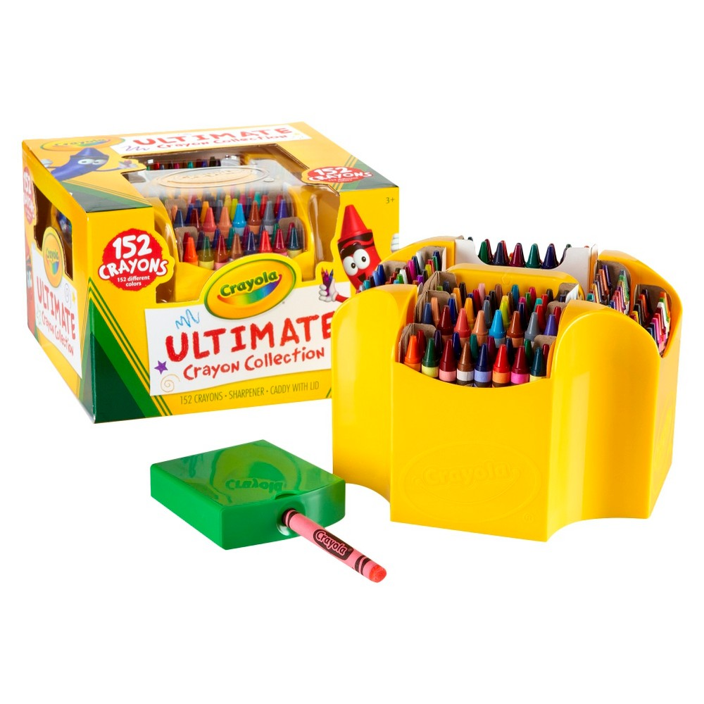 Crayola Ultimate Crayon Collection with Sharpener 152ct, Multi-Colored