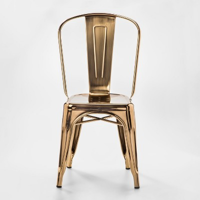 Carlisle Couture High Back Metal Dining Chair Gold - ACEssentials