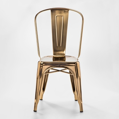 Carlisle Couture High Back Metal Dining Chair Gold - Ace Bayou - image 1 of 4
