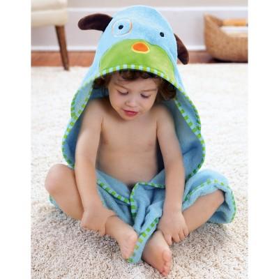 Skip Hop Zoo Little Kids & Toddler Towel and Mitt Set, Dog