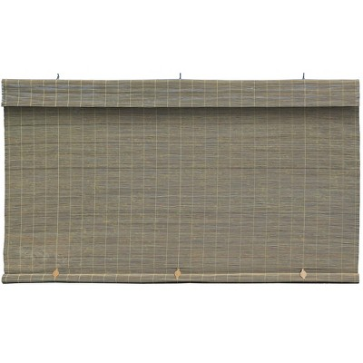 Imperial Matchstick Bamboo Cord-Free Natural Rollup Blinds
