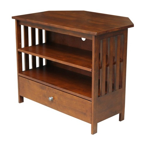 """Mission Corner TV Stand for TVs up to 38"""" Brown - International Concepts - image 1 of 4"""
