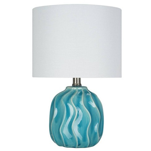 """15.25"""" Ceramic Accent Lamp Teal  - Cresswell Lighting - image 1 of 4"""