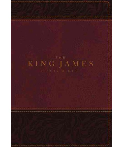 King James Study Bible : King James Study Bible, Burgundy, Leathersoft, Full-Color Edition - Indexed - image 1 of 1