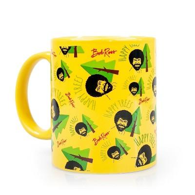 Surreal Entertainment Bob Ross Collectibles | Bob Ross Happy Trees Mug | Yellow