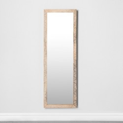 Carved Dot Natural Wood Floor Mirror - Opalhouse™