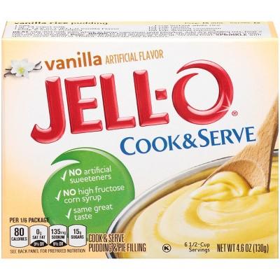 JELL-O Cook & Serve Vanilla Pudding - 4.6oz