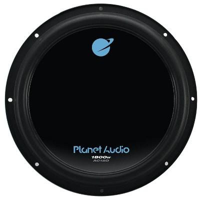 Planet Audio AC12D 12 Inch 1800 Watt 4 Ohm Dual Voice Coil Car Audio Subwoofer with Stamped Basket, Polypropylene Cone & Foam Surround, Black, Single