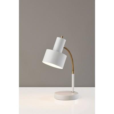 Stark Antique Brass Desk Lamp White - Adesso
