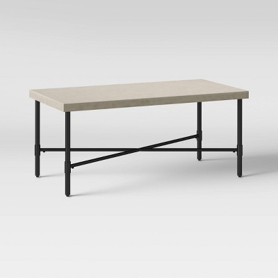 Faux Stone and Metal Patio Coffee Table - Threshold™