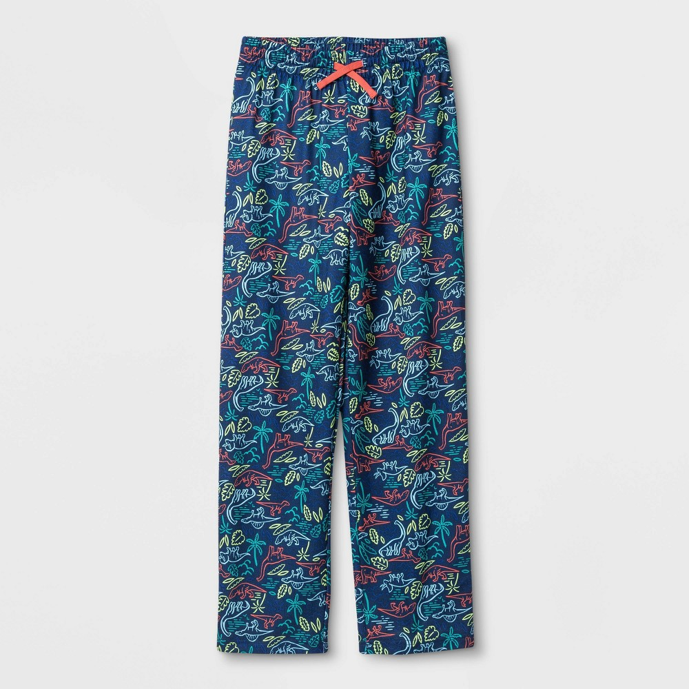 Image of Boys' Dinosaur Print Pajama Pant - Cat & Jack Blue M, Boy's, Size: Medium