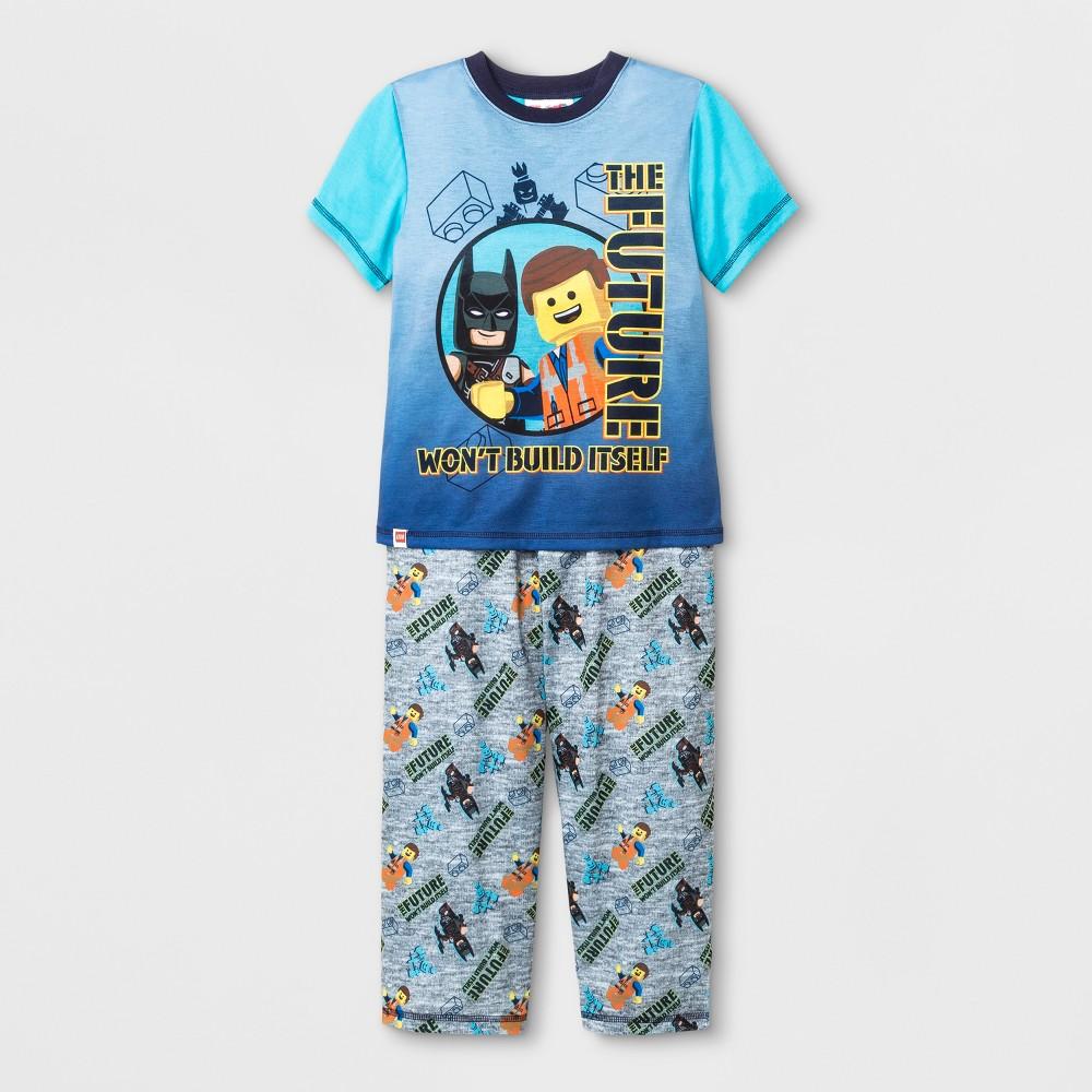 Image of Boys' LEGO Movie 2 2pc Pajama Set - Gray 8, Boy's