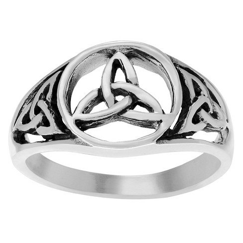 Women's Journee Collection Celtic Trinity Knot Triquetra Ring in Sterling Silver - image 1 of 2