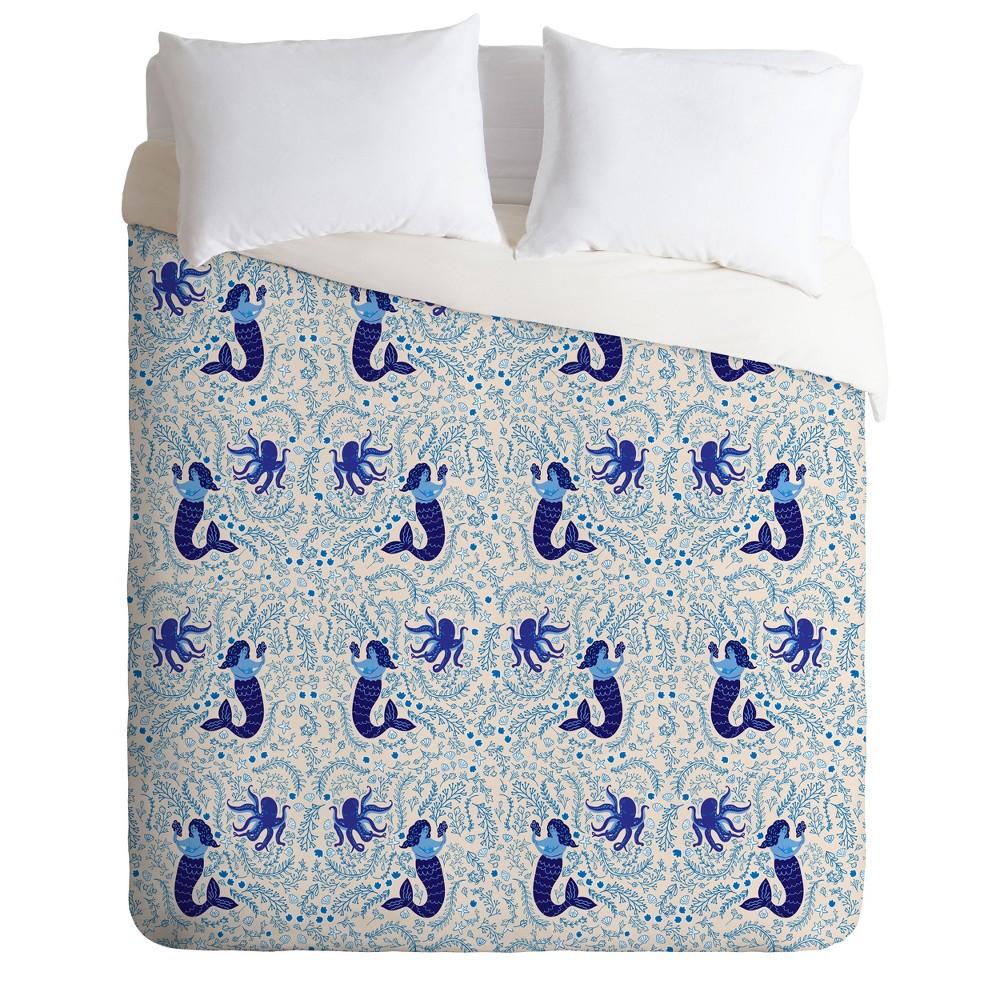 Twin/Twin XL Hello Sayang Mermaid Duvet Set Blue - Deny Designs