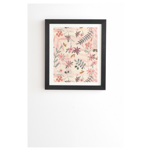 """Wonder Forest Feminine Floral Framed Wall Art 14"""" x 16.5"""" - Deny Designs - image 1 of 4"""