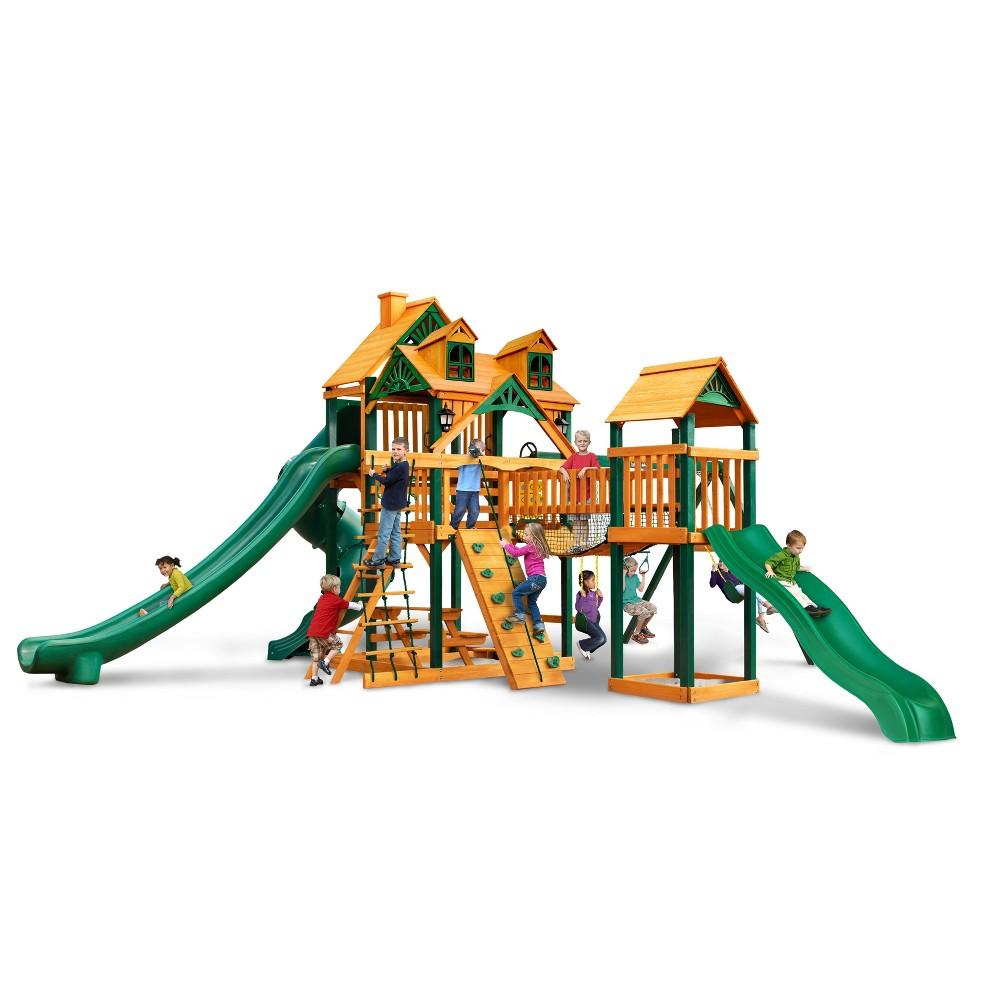 Gorilla Playsets Malibu Treasure Trove II Swing Set with Timber Shield, Multi-Colored