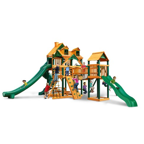 Gorilla Playsets Malibu Treasure Trove II Swing Set with Timber Shield - image 1 of 3