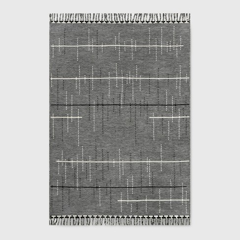 Linden Stripe Outdoor Rug Gray - Project 62™ - image 1 of 4