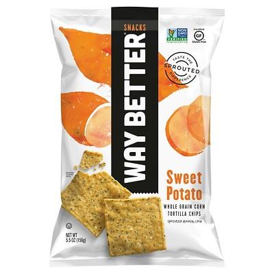 Way Better Snacks Sweet Potato Tortilla Chips - 5.5oz/12pk