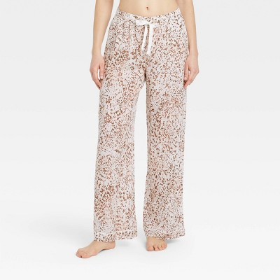 Women's Leopard Print Simply Cool Pajama Pants - Stars Above™ Cream