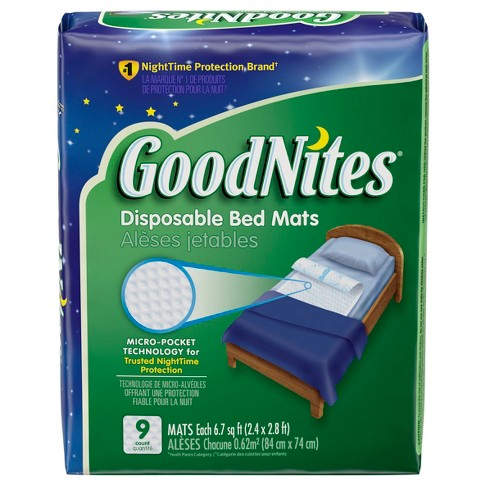 GoodNites Disposable Bed Mats - 9ct - image 1 of 4
