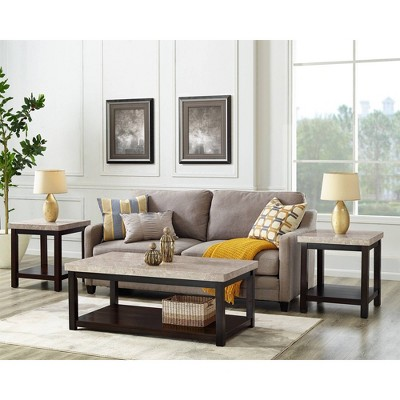 3pc Caleb Occasional Table Set Espresso - Picket House Furnishings