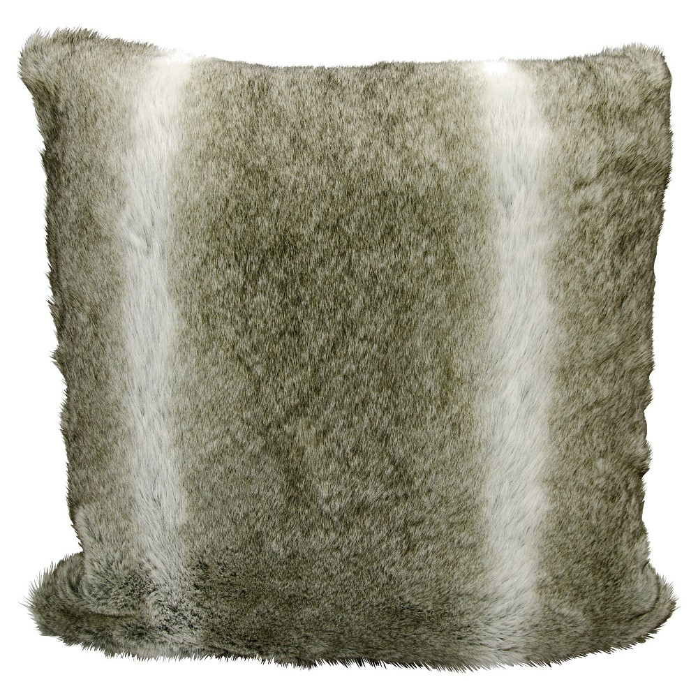 """Image of """"Gray/White Marled Throw Pillow (20""""""""x20"""""""") - Nourison, Silver"""""""