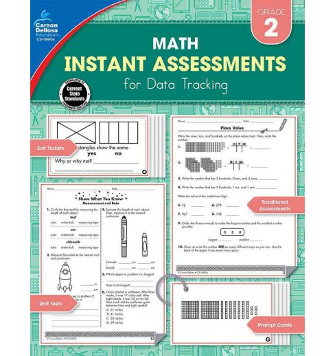 Instant Assessments for Data Tracking Math, Grade 2 (Paperback) - image 1 of 1