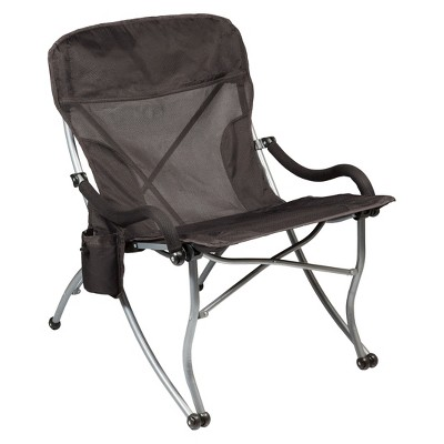 Picnic Time PT-XL Camp Chair with Carrying Case - Black