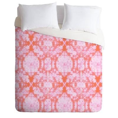 Schatzi Brown Bexeley Tie Dye Pink Comforter Set - Deny Designs