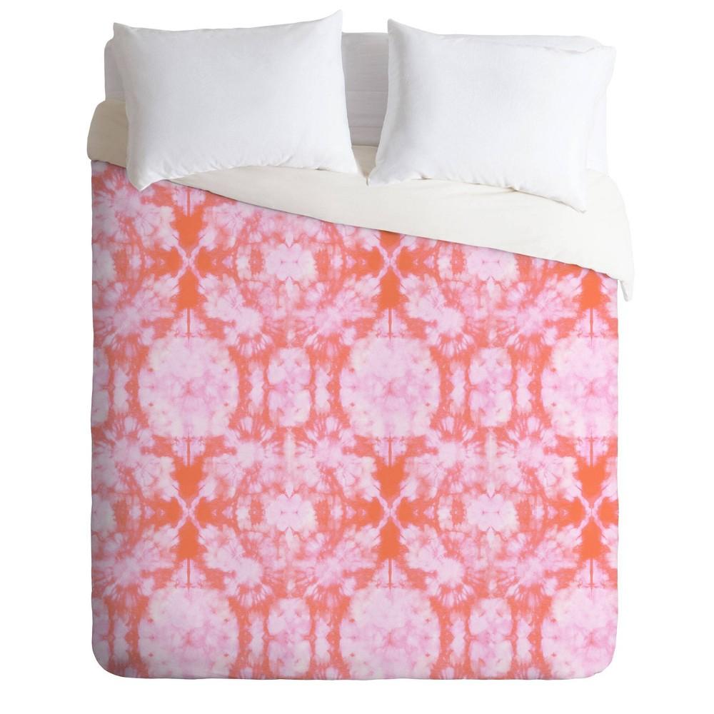 King Schatzi Brown Bexeley Tie Dye Comforter Set Pink Deny Designs
