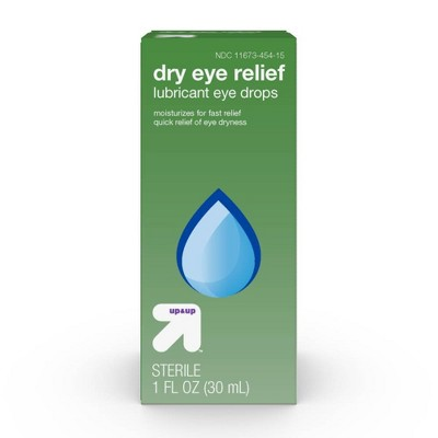 Dry Eye Relief Lubricant Eye Drops - 1 fl oz - up & up™