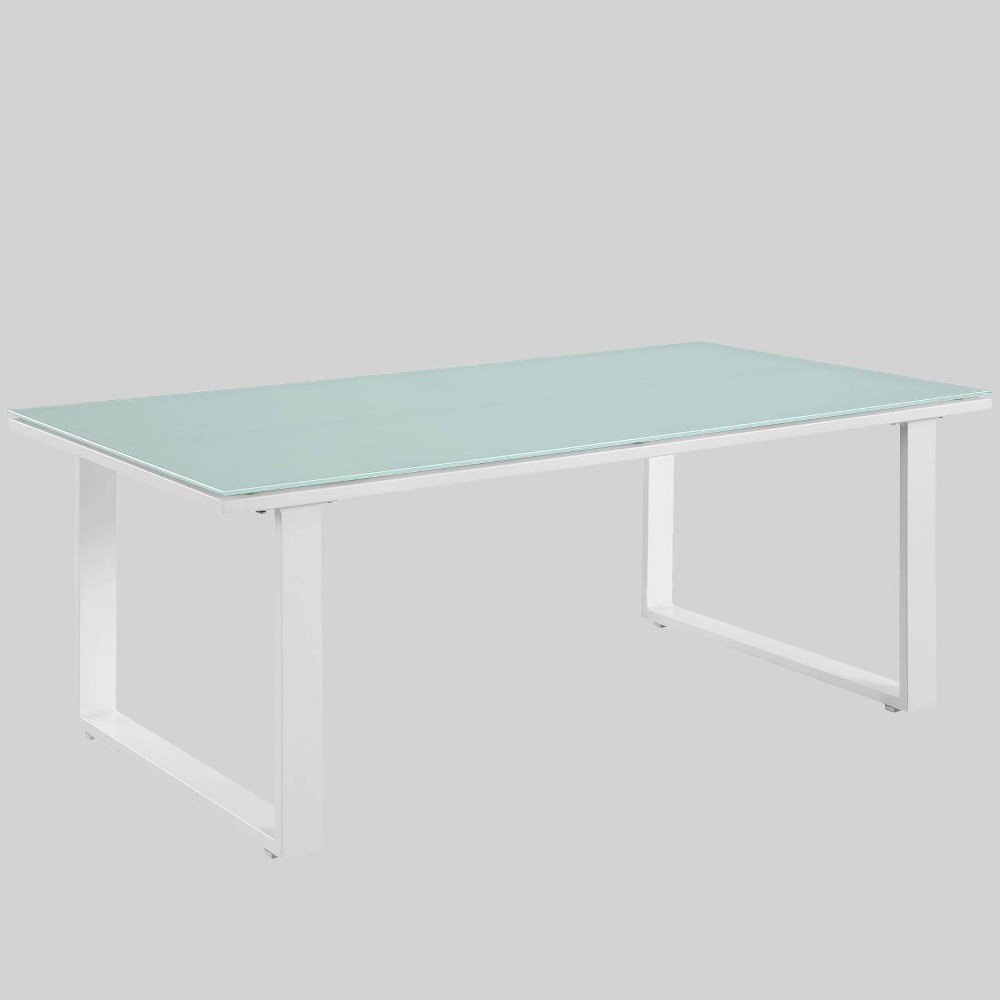 Fortuna Outdoor Patio Coffee Table - White - Modway